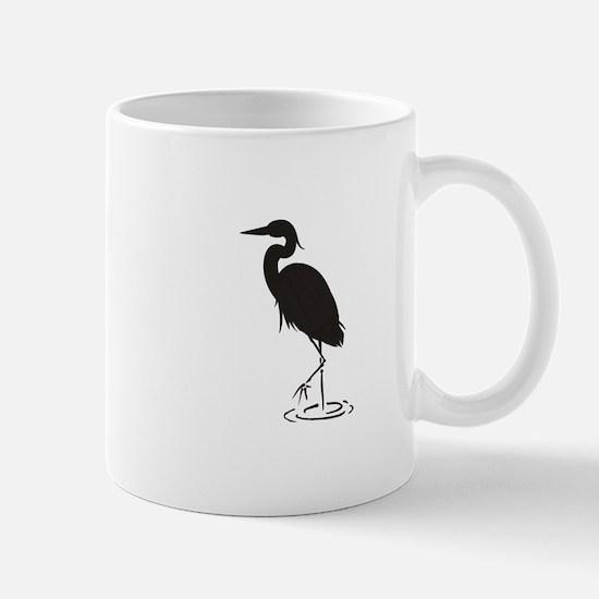Heron Silhouette Mugs