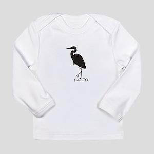 Heron Silhouette Long Sleeve T-Shirt