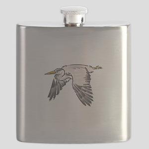 Heron In Flight Flask