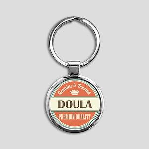 doula vintage logo Round Keychain