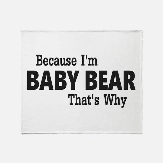 Baby Bear Throw Blanket