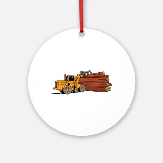 Logging Loader Round Ornament