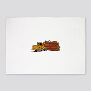 Logging Loader 5'x7'Area Rug