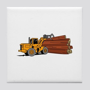 Logging Loader Tile Coaster