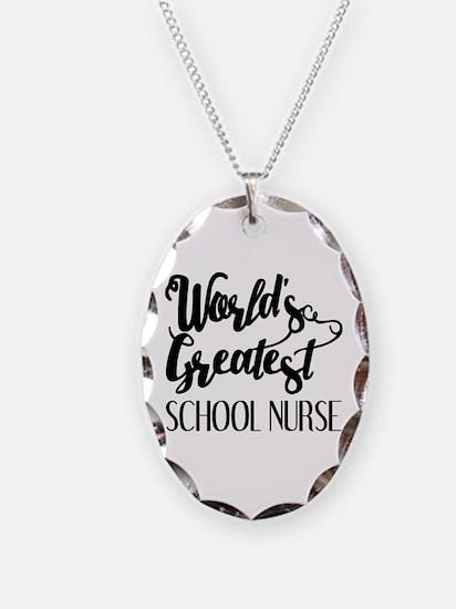 World's Greatest School Nurse Necklace