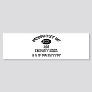 Property of an Industrial R & D Scientist Sticker