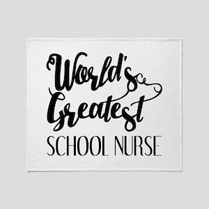 World's Greatest School Nurse Throw Blanket