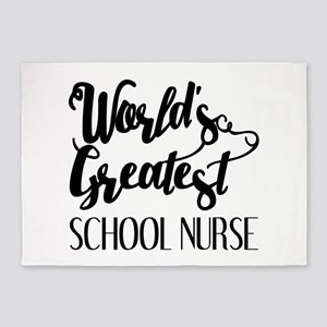 World's Greatest School Nurse 5'x7'Area Rug