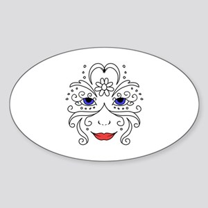 Floral Face Open Sticker