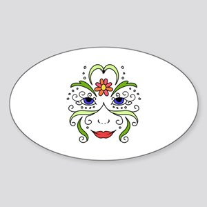 Womans Floral Face Sticker