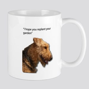 Airedale Terrier wishing you your best in rep Mugs