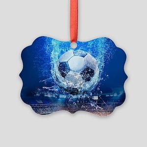 Ball Splash Over Stadium Picture Ornament