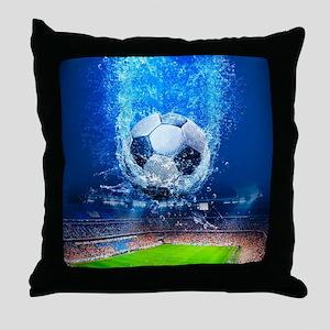 Ball Splash Over Stadium Throw Pillow