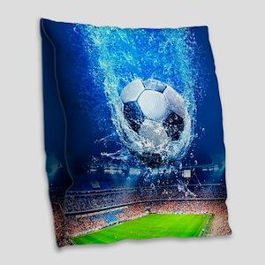 Ball Splash Over Stadium Burlap Throw Pillow