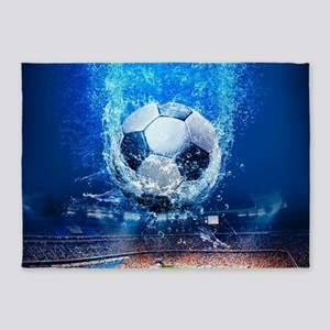 Ball Splash Over Stadium 5'x7'Area Rug