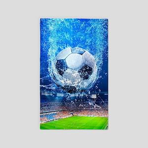 Ball Splash Over Stadium Area Rug