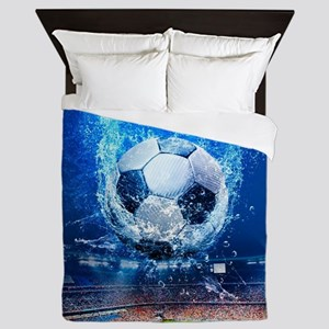 Ball Splash Over Stadium Queen Duvet