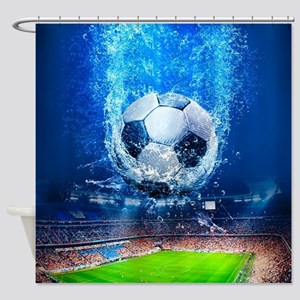 Ball Splash Over Stadium Shower Curtain