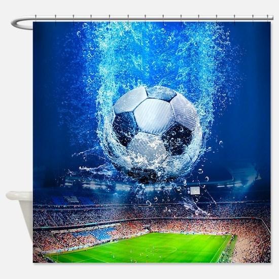 Ball Splash Over Stadium Shower Curtain