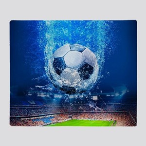 Ball Splash Over Stadium Throw Blanket
