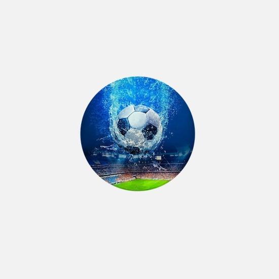 Ball Splash Over Stadium Mini Button