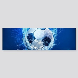 Ball Splash Over Stadium Bumper Sticker