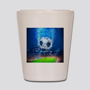 Ball Splash Over Stadium Shot Glass