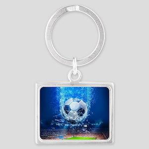 Ball Splash Over Stadium Keychains
