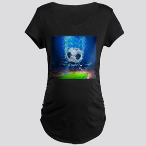 Ball Splash Over Stadium Maternity T-Shirt