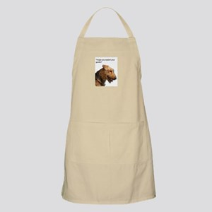 Airedale Terrier wishing you your best in re Apron