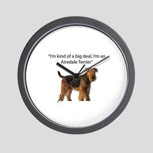 Airedale Terriers are a Big Deal Wall Clock