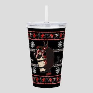Krampus Ugly Christmas Acrylic Double-wall Tumbler