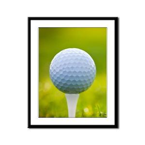 Golf Ball Framed Panel Print