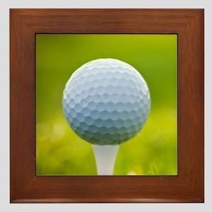 Golf Ball Framed Tile