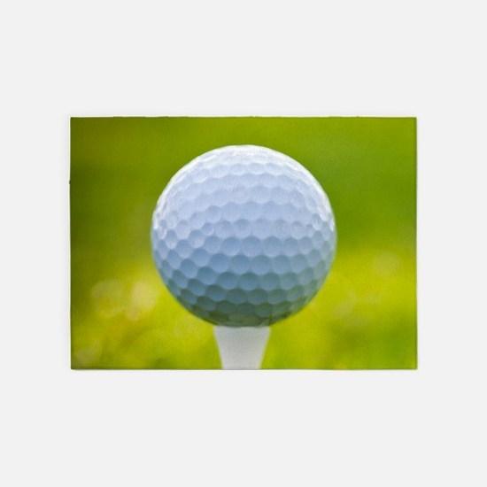 Golf Ball 5 X7 Area Rug