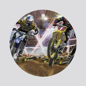 Motocross Arena Round Ornament