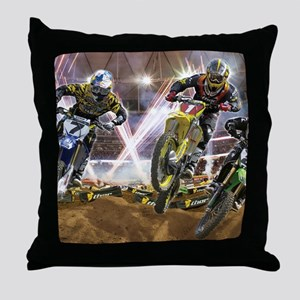 Motocross Arena Throw Pillow