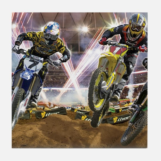 Motocross Arena Tile Coaster