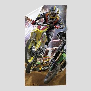 Motocross Arena Beach Towel