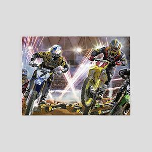 Motocross Arena 5'x7'Area Rug