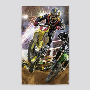 Motocross Arena Area Rug
