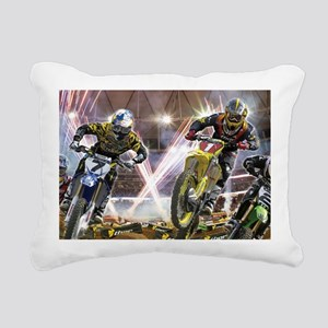 Motocross Arena Rectangular Canvas Pillow