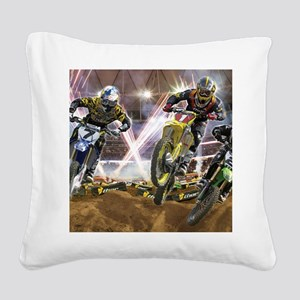 Motocross Arena Square Canvas Pillow