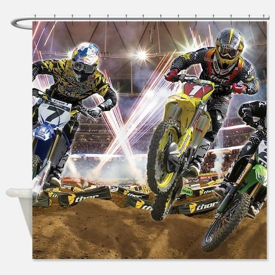 Motocross Arena Shower Curtain