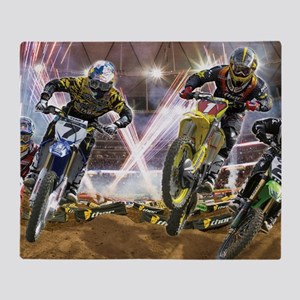 Motocross Arena Throw Blanket