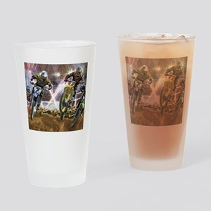 Motocross Arena Drinking Glass