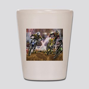Motocross Arena Shot Glass