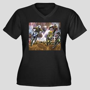 Motocross Arena Plus Size T-Shirt