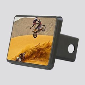 Motocross Riders Riding Sand Dunes Hitch Cover