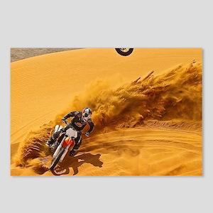 Motocross Riders Riding Sand Dunes Postcards (Pack